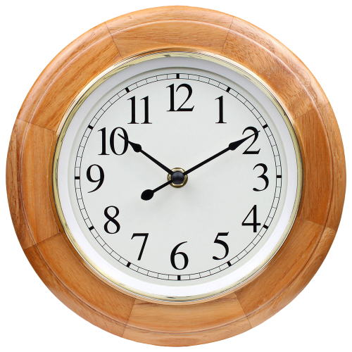 Wooden Wall Clock PNG Image.