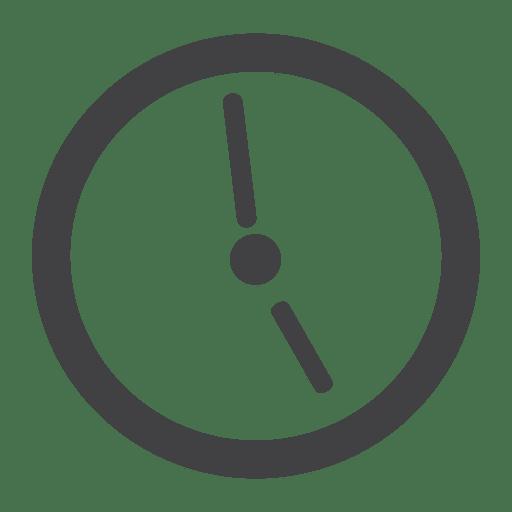Flat clock icon.