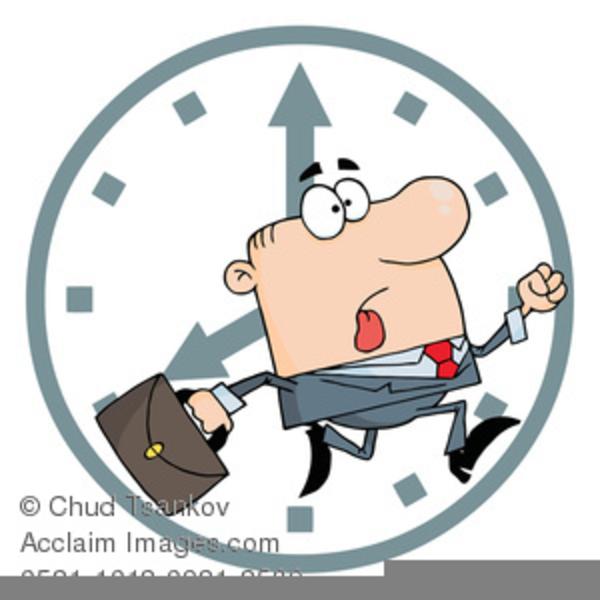 Running Clock Clipart.