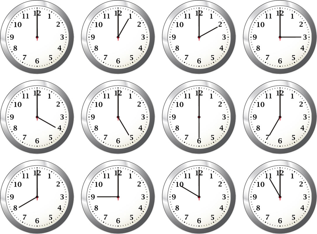 Clock Time Clipart.