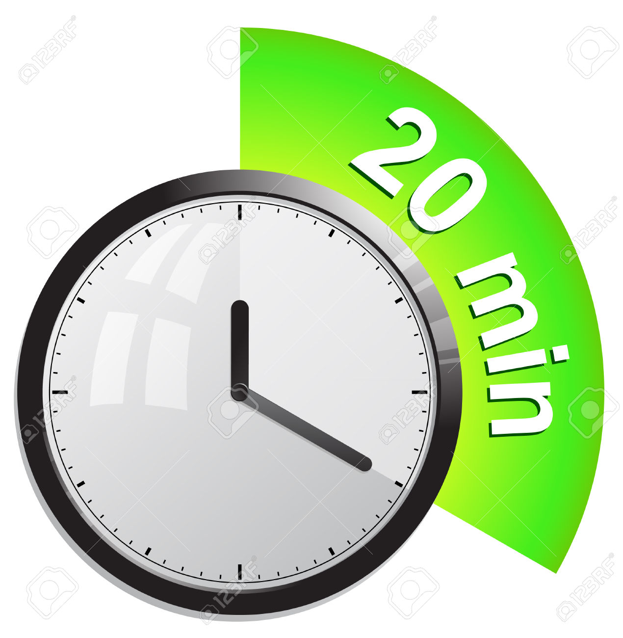 Clock, Timer 20 Minutes Royalty Free Cliparts, Vectors, And Stock.