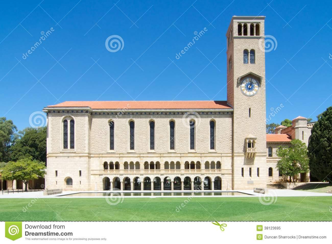 Winthrop Hall And Clock Tower University Of Western Australia.