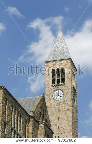University Clock Tower Stock Photos, Royalty.