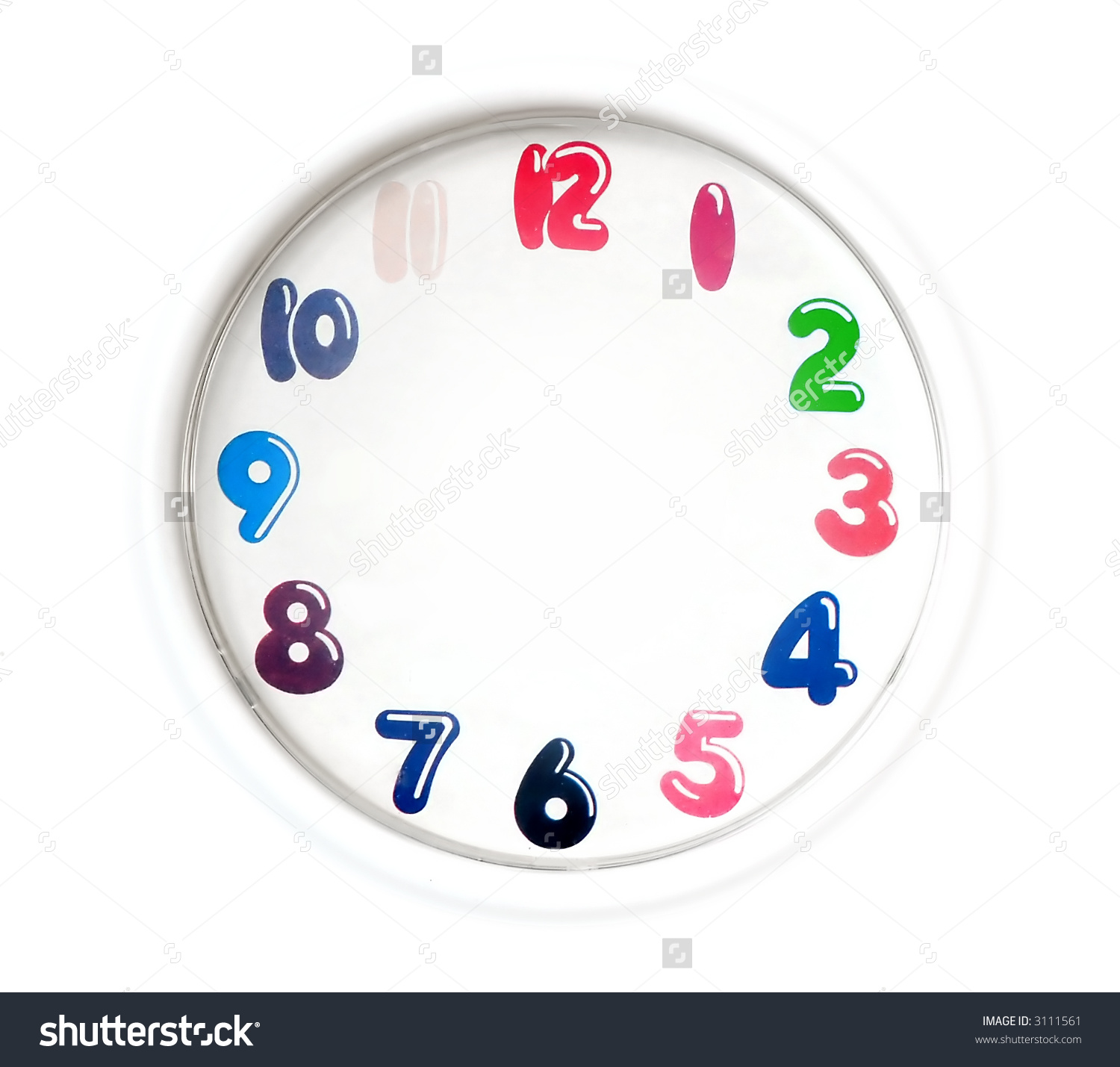 Analog Clock Clipart With No Hands.