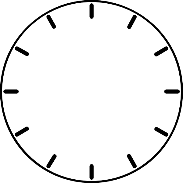 Clock Face (no Hands) Clip Art at Clker.com.