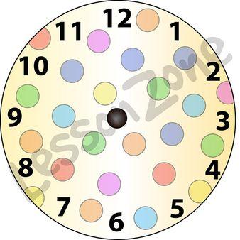 Clock Clipart No Hands Colorful.