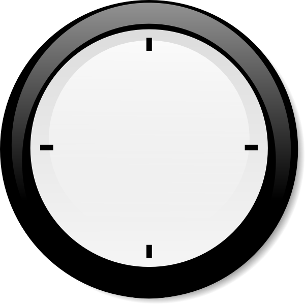 No Hands Modern Clock Clip Art at Clker.com.