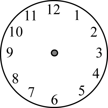 Clock Face without Hands Clip Art.