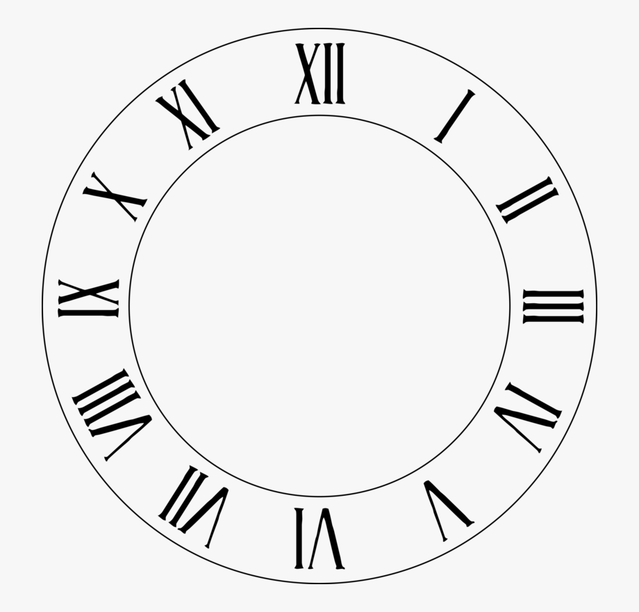 Roman Numerals Clip Art Ring Transprent.
