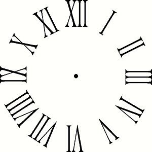 Image result for picture of clock with roman numerals.