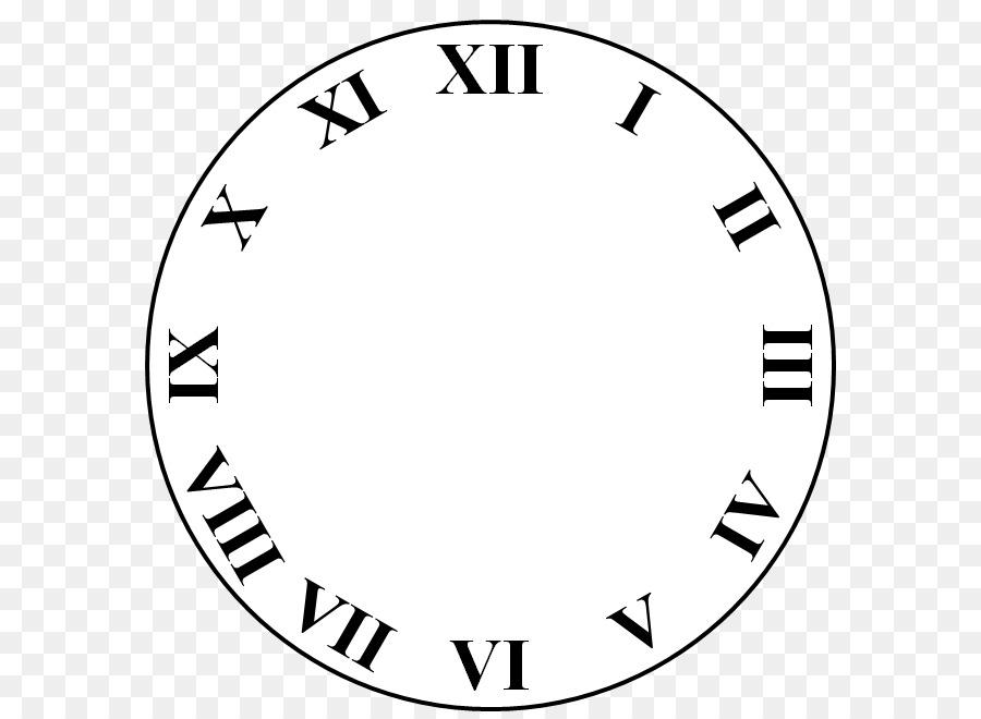 Roman Numeral Clock Drawing.