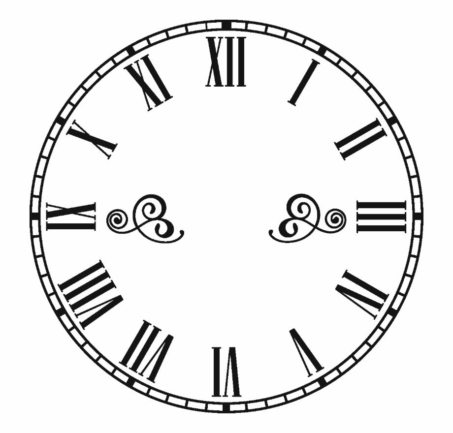 Steampunk Clipart Retro Clock.
