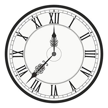 Amazon.com: Classic Roman Numeral Analog Watch Face Clock Vinyl.