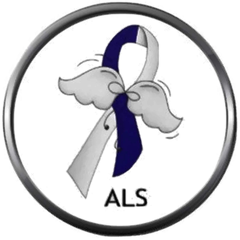 Amazon.com: ALS Lou Gehrigs Disease Awareness Ribbon with.