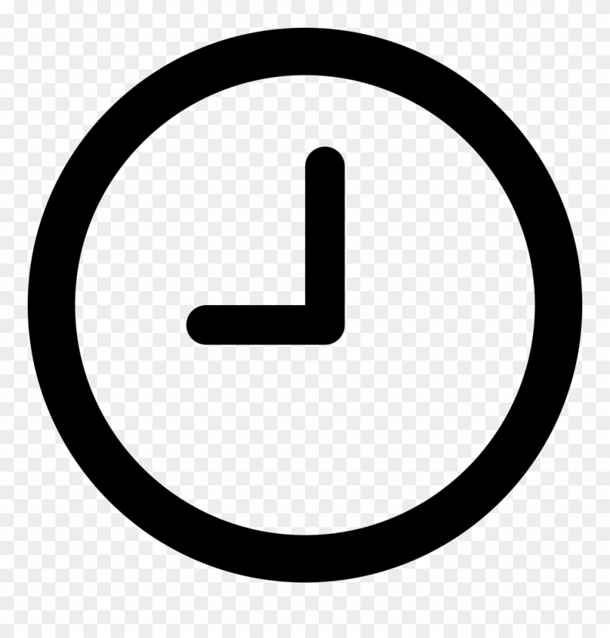 Clipart Black And White Download Clock Svg Png Icon.