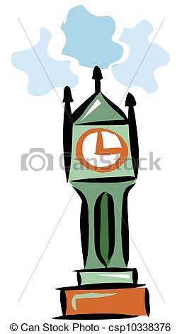 Stock Illustrations of Clock tower csp10338376.
