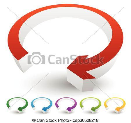 Vector Clip Art of circular, loop, refresh, vector, cycle.