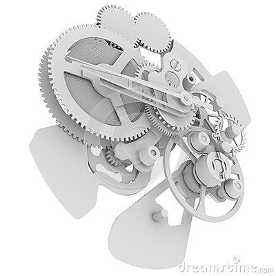 Clockwork Mechanism Royalty Free Stock Image.