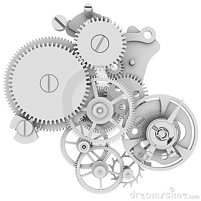Clock Mechanism Royalty Free Stock Images.