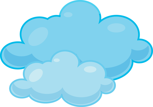 Animated cloud clipart.