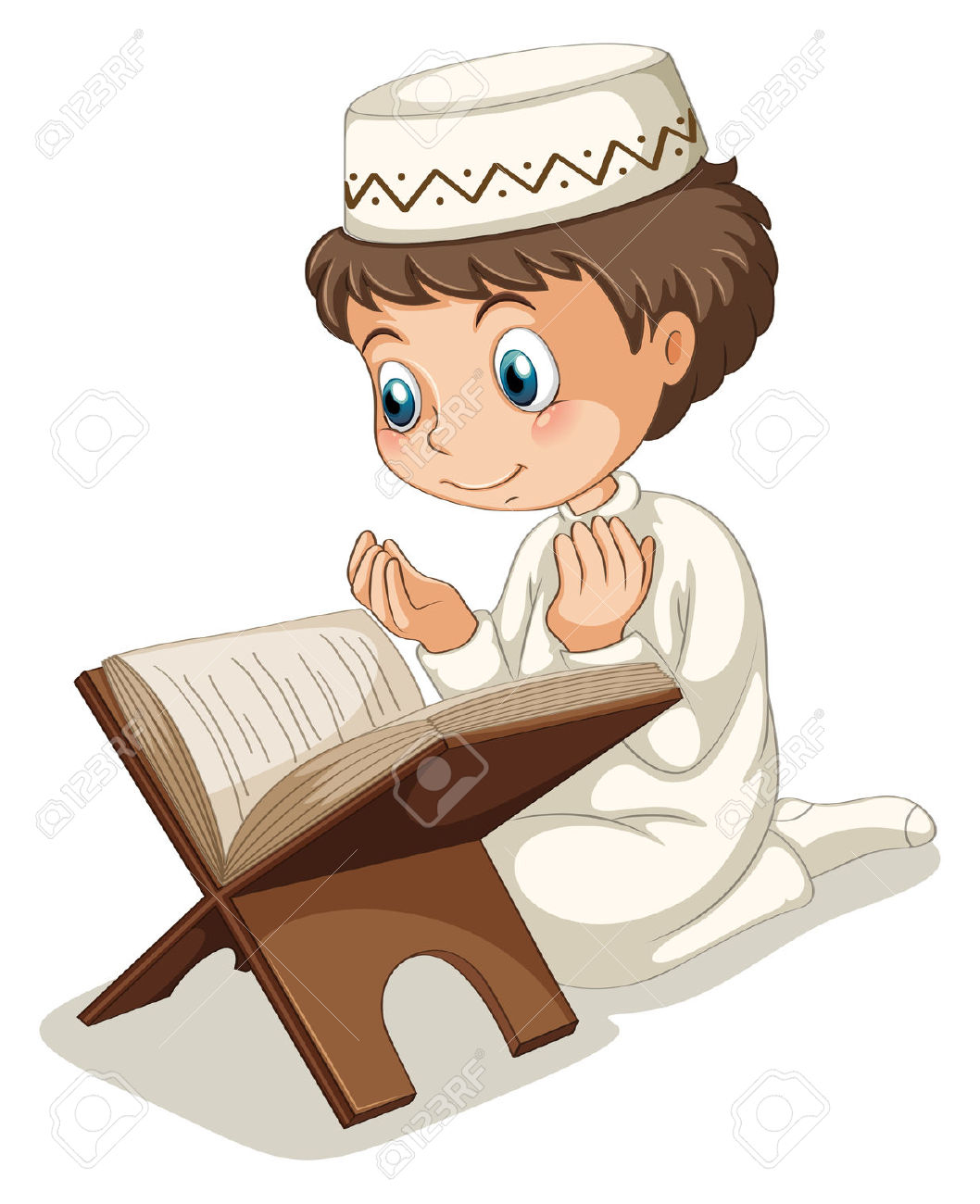 Close Up Muslim Boy Praying Royalty Free Cliparts, Vectors, And.