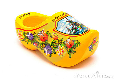 Yellow Clog Stock Image.