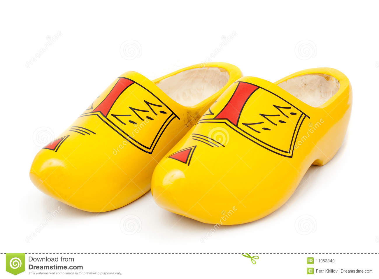 Dutch Shoes Clipart.