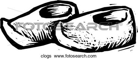 Clip Art of Clogs clogs.