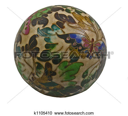 Stock Photography of cloisonne paperweight k1105410.