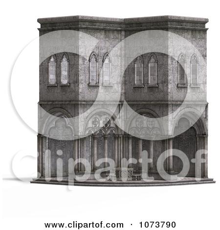 Clipart 3d Medieval Cottage 4.