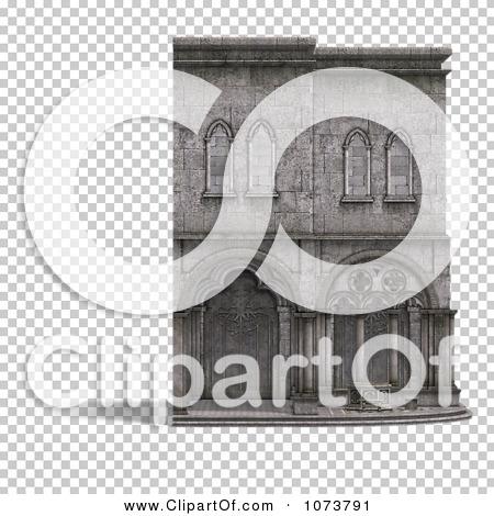 Clipart 3d Medieval Cloister Building 2.