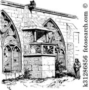 Cloisters Clip Art Vector Graphics. 31 cloisters EPS clipart.