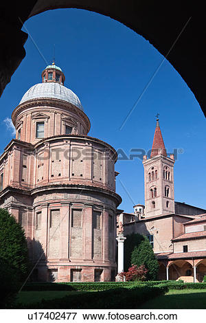 Picture of View from cloisters of dome and apse of church of San.