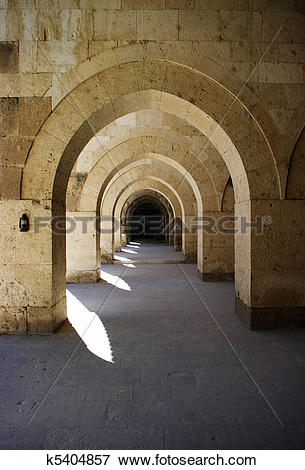 Picture of Turkish caravansary cloisters in Anatolia k5404857.