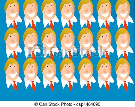 Stock Illustration of clone team.