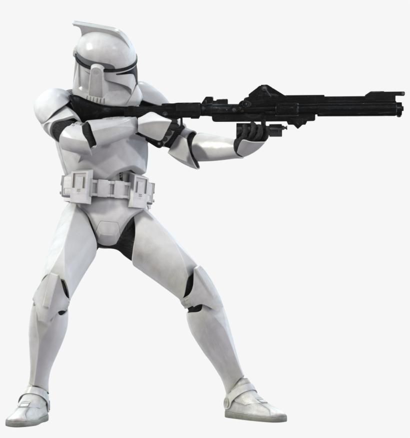 A Clone Trooper Using A Dc.