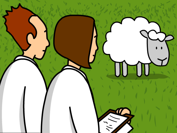 Dolly the Cloned Sheep Clip Art.