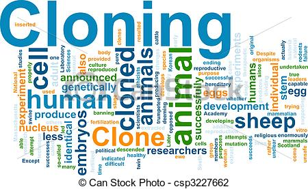 Clip Art of Cloning word cloud.