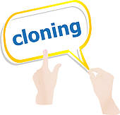Clip Art of Cloning word cloud k3005512.