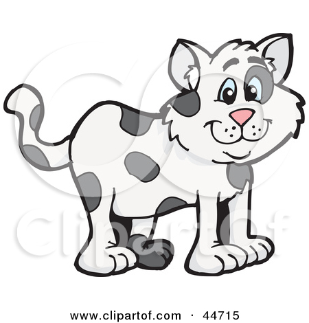 Clipart Illustration of a Cloned Matching Cat, Dog And Horse by.