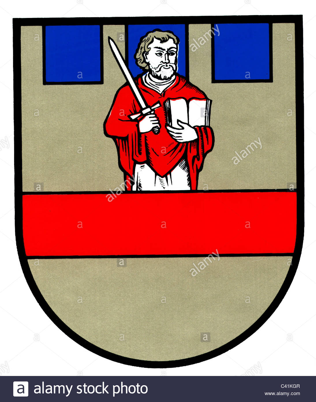 Coat Of Arms / Emblems, Cloppenburg, City Arms, Lower Saxony Stock.