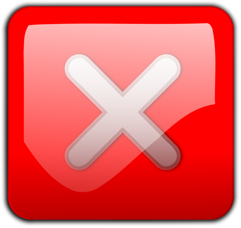 Free Clipart: Close Button red.