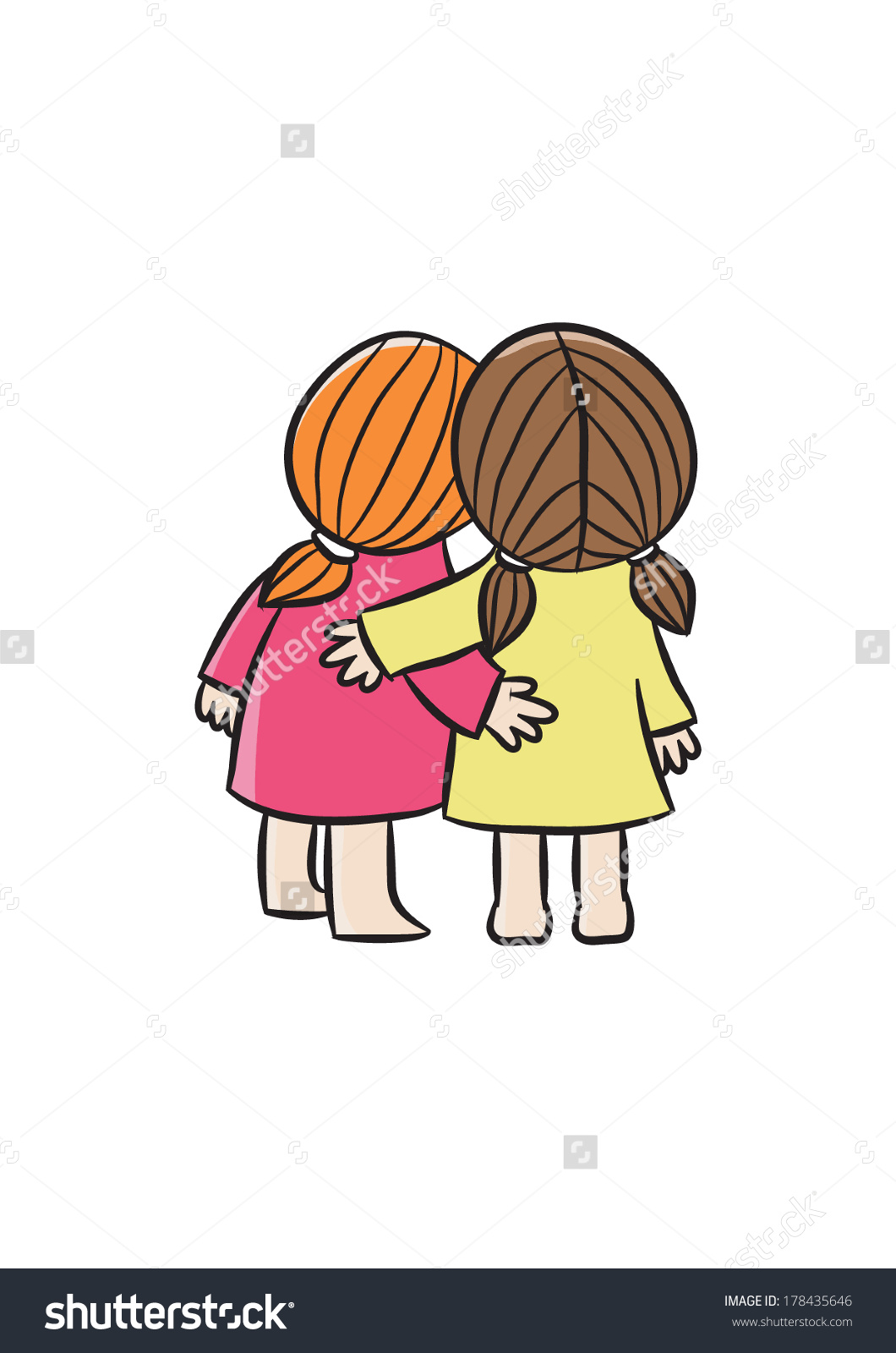 Two Best Friends Stock Vector 178435646.