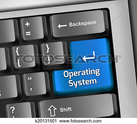 Clipart of Keyboard Illustration Operating System k20131501.