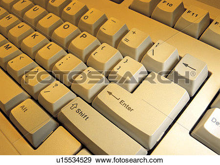 Stock Photograph of input, computer, office, keyboard u15534529.