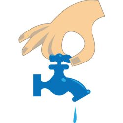 Turn on water clipart.