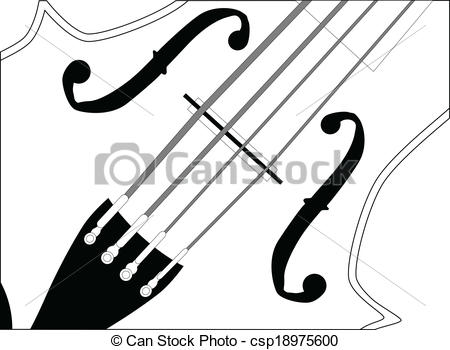 Vector Clipart of Fiddle Close Up.