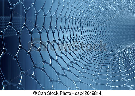Clipart of 3d rendering abstract nanotechnology hexagonal.