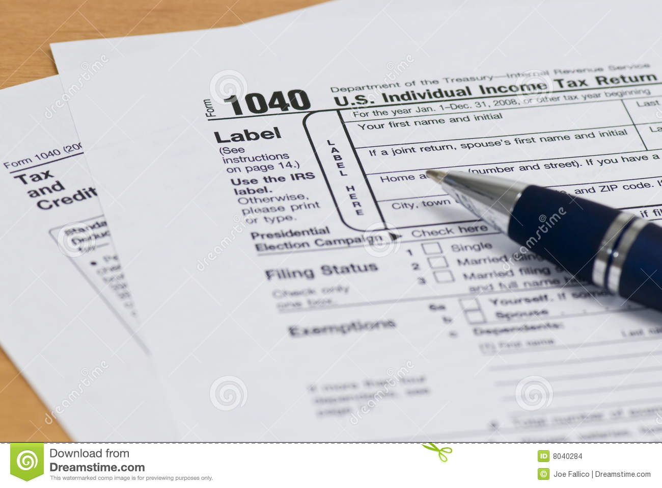 1040 Form Clipart.