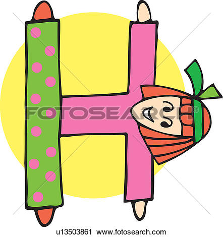 Clipart of Close up view of girl forming H u13503861.